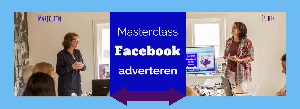 Masterclass Facebook adverteren voor gevorderden