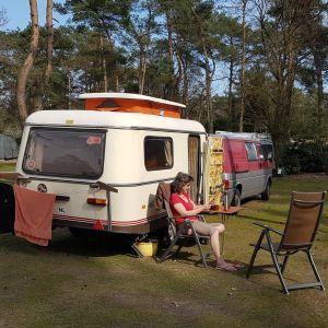 Renée en haar caravan