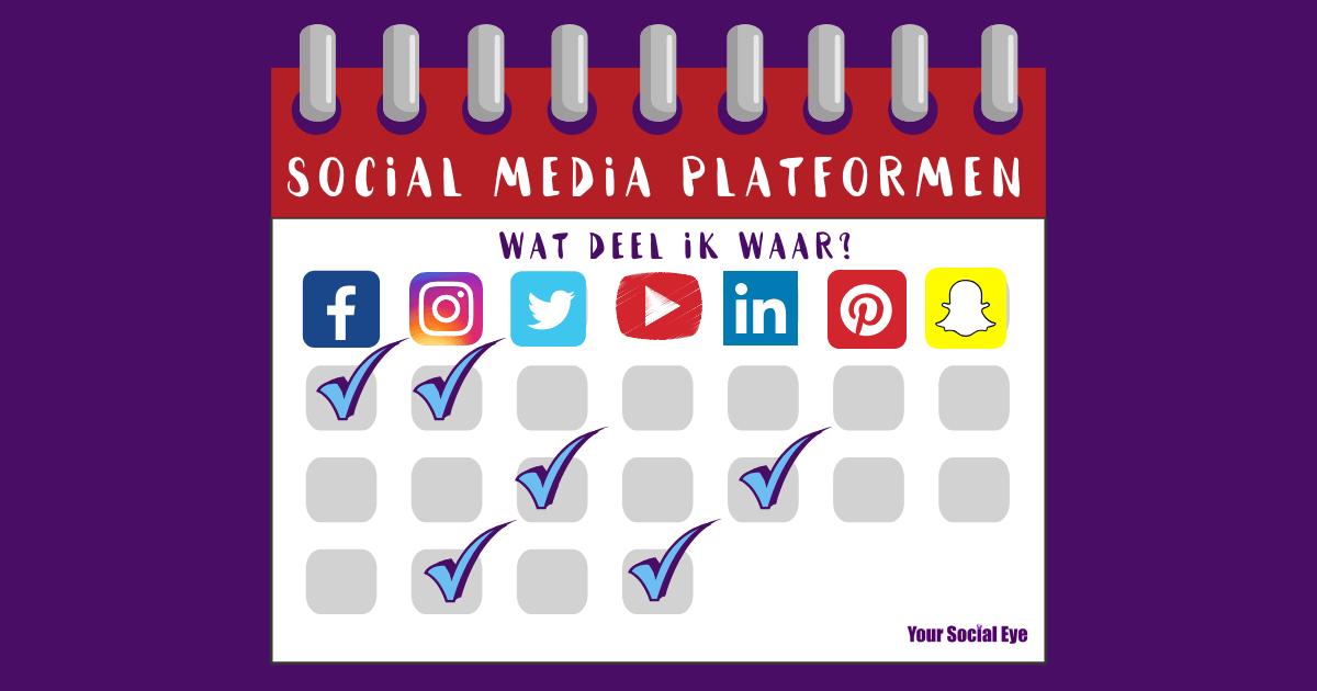 Social Media Platformen Wat deel ik waar