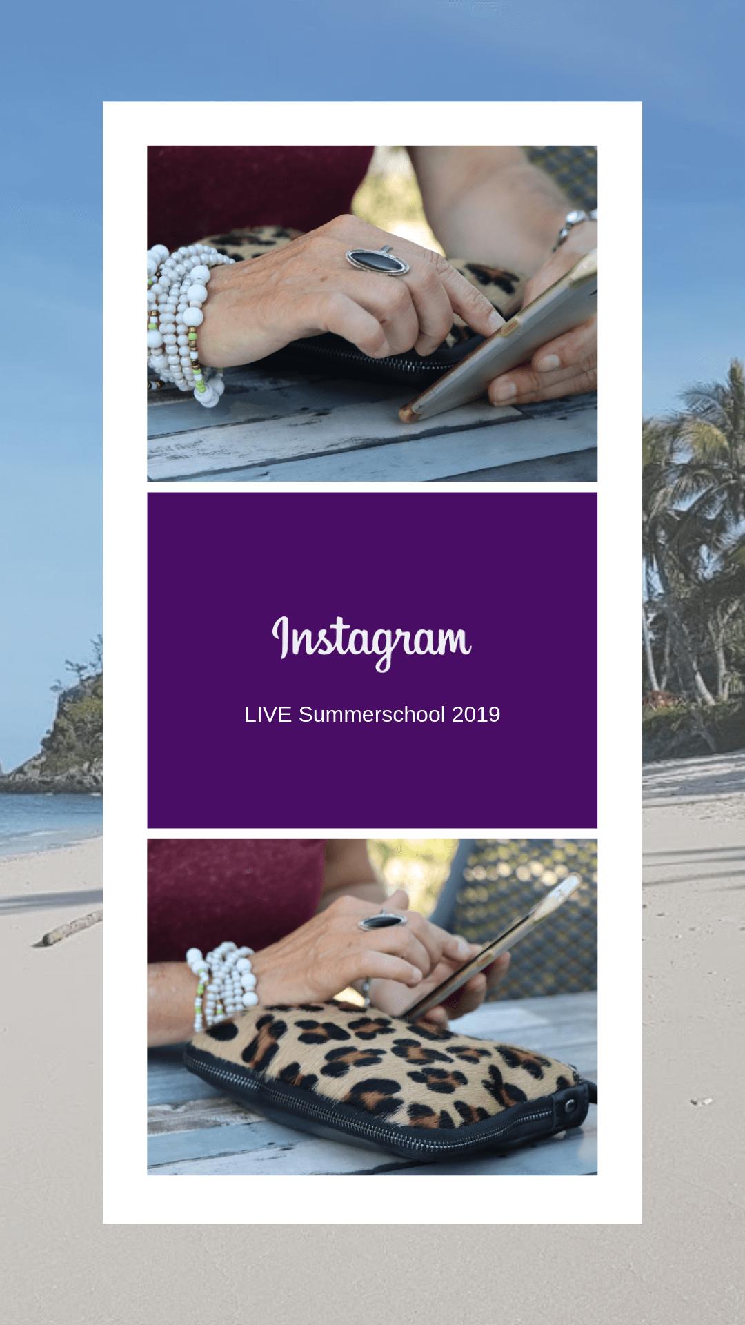 Instagram LIVE Summerschool 2019