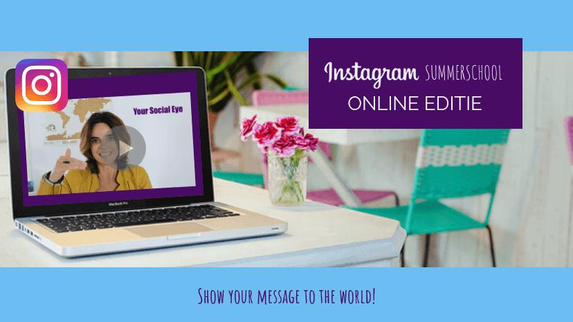 Instagram Summerschool online editie