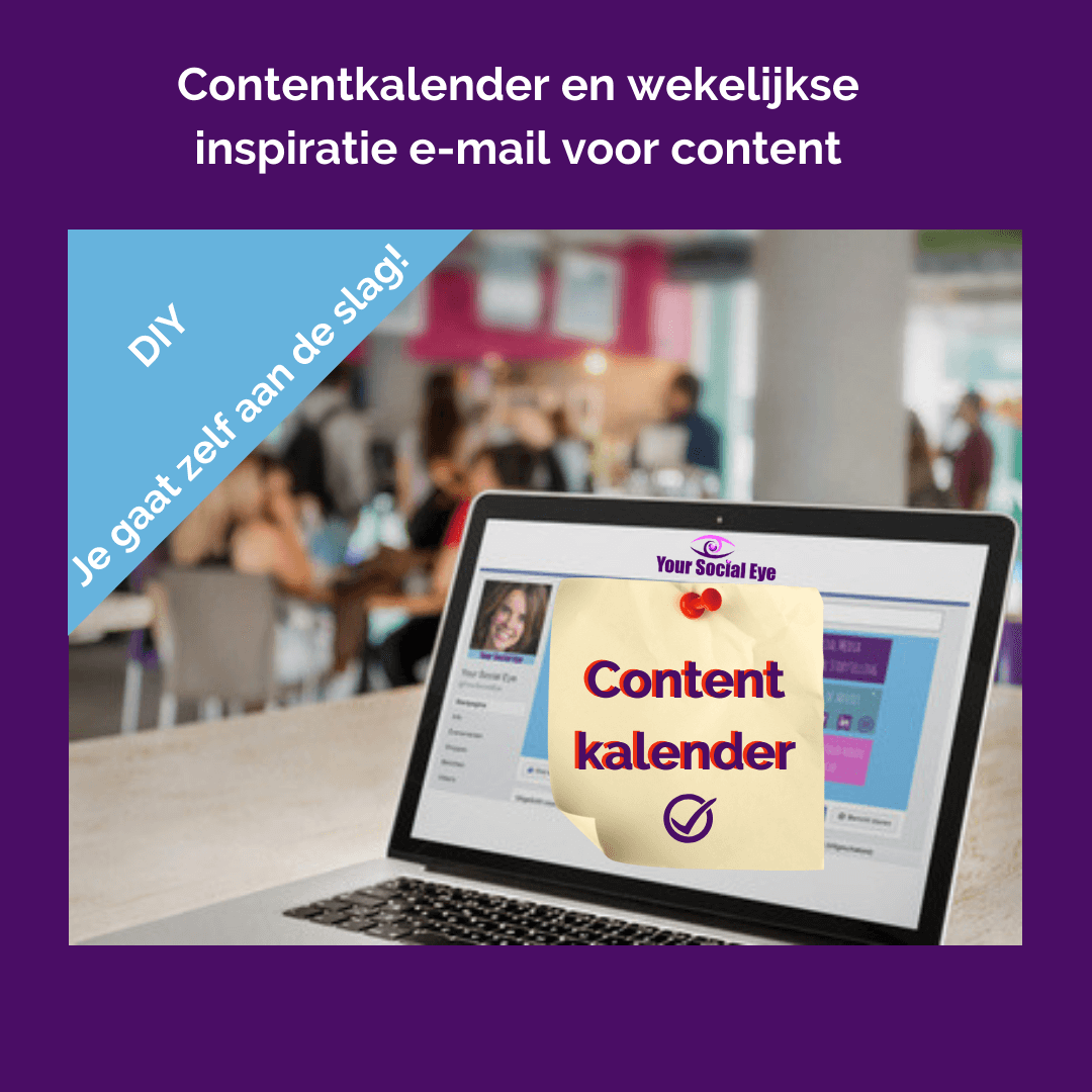 Contentkalender en wekelijkse inspiratie email