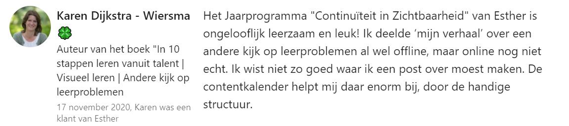 Karen Dijkstra over Contentkalender
