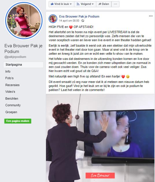 Online Event Eva Brouwer