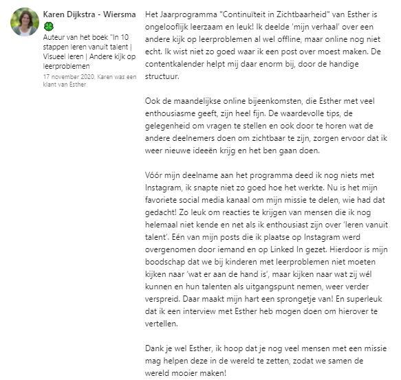 Deelnemer Karen Dijkstra