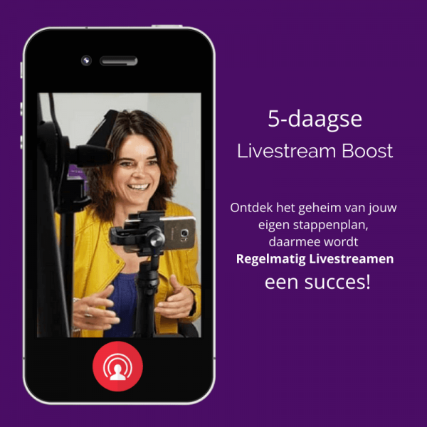 5 daagse Livestream Boost Stappenplan