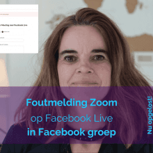 Zoom foutmelding